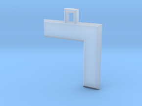 ABC Pendant - 7 Type - Solid - 24x24x3 mm in Smooth Fine Detail Plastic