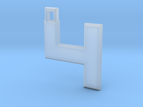 ABC Pendant - 4 Type - Solid - 24x24x3 mm in Smooth Fine Detail Plastic