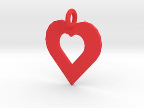 heart pendants in Red Processed Versatile Plastic