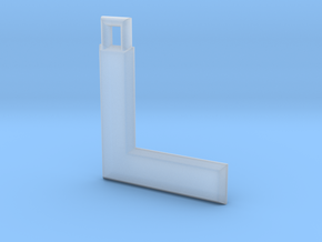 ABC Pendant - L Type - Solid - 24x24x3 mm in Smooth Fine Detail Plastic