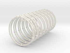 Nitrogen Napkin Ring in White Natural Versatile Plastic
