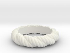 Torque Ring Size 17 (Q) in White Natural Versatile Plastic
