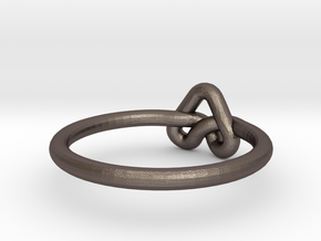 Love Knot-sz19 in Polished Bronzed Silver Steel