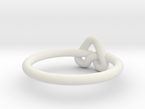 Love Knot-sz18 in White Natural Versatile Plastic