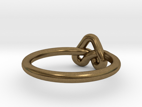 Love Knot-sz17 in Raw Bronze