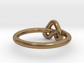 Love Knot-sz17 in Natural Brass