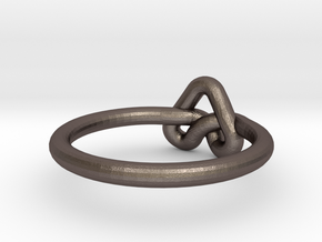 Love Knot-sz17 in Polished Bronzed Silver Steel