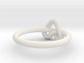 Love Knot-sz16 in White Natural Versatile Plastic