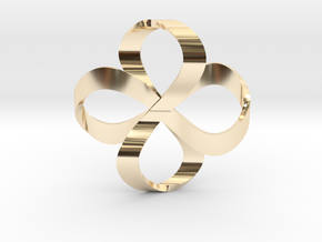 Double Infinity in 14K Yellow Gold