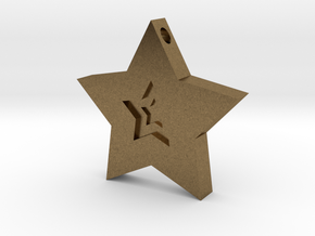 Star Charm (Precious metals)   in Natural Bronze