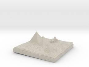 Traditional View Of The Pyramids more printable in Sandstone