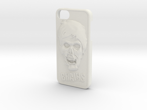 Zombie and Brains Iphone 5 / 5S Case in White Strong & Flexible