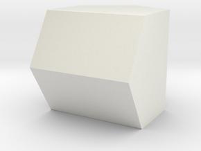 hexCylindricon in White Natural Versatile Plastic