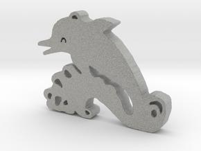 Happy Dolphin in Metallic Plastic