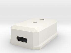 Case for Arduino Pro Micro in White Natural Versatile Plastic