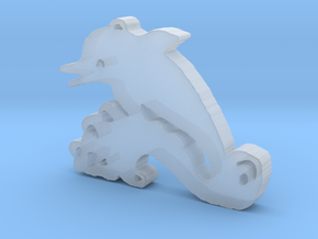 Happy Dolphin in Smooth Fine Detail Plastic