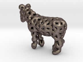 Digital Donkey in Polished Bronzed Silver Steel