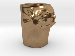 Face Escape Mug in Natural Brass