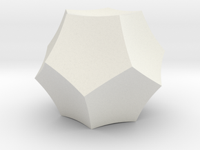 Curved Dodecahedron - Small in White Natural Versatile Plastic