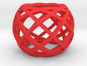 Openwork ring in Red Processed Versatile Plastic