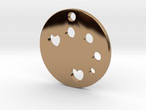 Love Disk v1 in Polished Brass