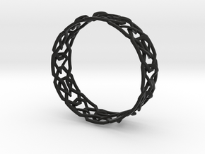 Dilly Design Interlaced Pattern Bangle in Black Strong & Flexible