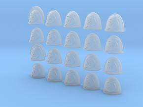 20 28mm Custom Shoulder Pad Shark in Smooth Fine Detail Plastic