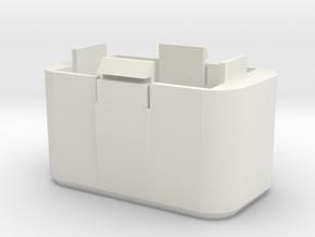 Couvercle de batterie Phantom 2 version 1 avec cal in White Natural Versatile Plastic