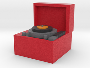 Record Player in Full Color Sandstone
