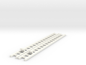 2x Corgi TT Series Ladder 14.55cm in White Processed Versatile Plastic