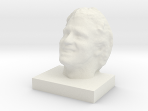 "Face Scan - 7"" in White Natural Versatile Plastic"