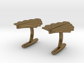 Art Deco Palm Cufflinks in Natural Bronze
