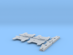 1/16 11 Inch Rearend 4 Bar Link Plates in Smooth Fine Detail Plastic