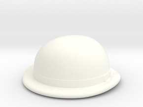 Bowler in White Processed Versatile Plastic
