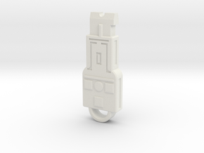 Vector Key in White Natural Versatile Plastic