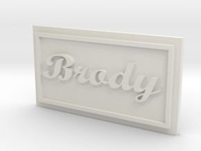 Brody Name patched in White Natural Versatile Plastic