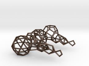 Earring_geometry in Polished Bronze Steel
