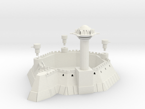 Martian 8 Sided Villa Fortress With Towers in White Natural Versatile Plastic