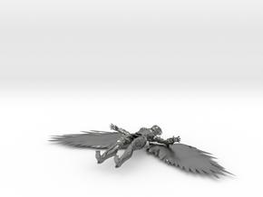 Hawkgirl V in Natural Silver
