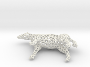 Horse Voronoi in White Natural Versatile Plastic