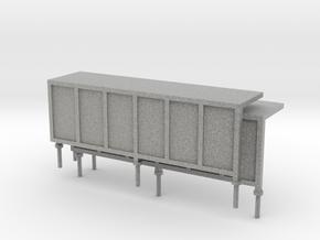 JCDecaux Shelter (long) 1:148 N Gauge in Metallic Plastic