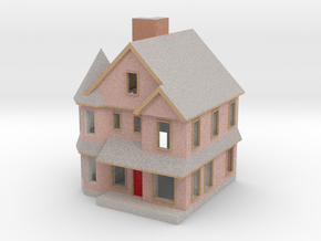 Queen Anne House - 1:300 scale in Full Color Sandstone