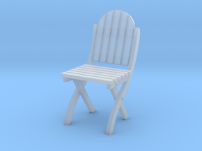 1:24 Wood Folding Chair (Not Full Size) in Smooth Fine Detail Plastic