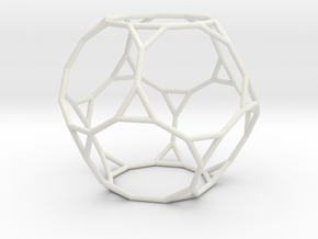 TruncatedDodecahedron 100mm in White Natural Versatile Plastic
