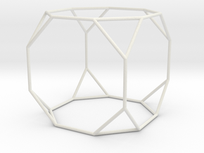 TruncatedCube 100mm in White Natural Versatile Plastic