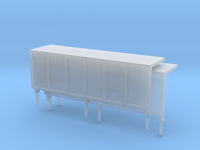 JCDecaux Shelter (long) 1:148 N Gauge in Smooth Fine Detail Plastic