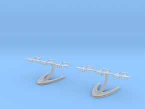P-38 Lightning in Smooth Fine Detail Plastic