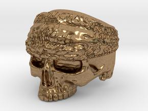 Ring SkullBandana Size - 8 in Natural Brass