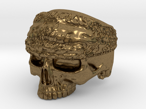 Ring SkullBandana Size - 8 in Natural Bronze