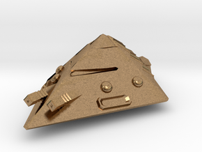 Dwarven Armor-Clad Pyramoid in Natural Brass